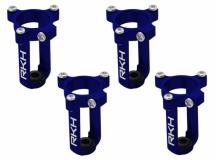 Rakonheli 7mm Motorhalter und Landegestell blau für den Tuningrahmen für NQX2