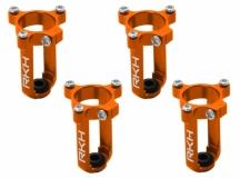 Rakonheli 7mm Motorhalter und Landegestell orange für den Tuningrahmen für NQX2