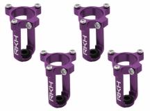 Rakonheli 7mm Motorhalter und Landegestell lila für den Tuningrahmen für NQX2