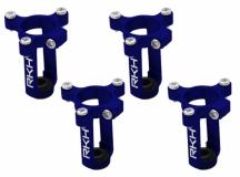 Rakonheli 6mm Motorhalter und Landegestell in blau für den Tuningrahmen für NQX2