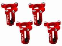 Rakonheli 6mm Motorhalter und Landegestell in rot für den Tuningrahmen für NQX2