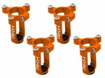 Rakonheli 6mm Motorhalter und Landegestell orange für den Tuningrahmen für NQX2