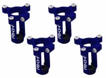Rakonheli 8mm Motorhalter und Landegestell in blau für den Tuningrahmen für NQX2