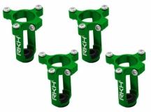 Rakonheli 8mm Motorhalter und Landegestell in grün für den Tuningrahmen für NQX2