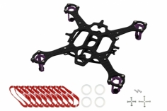 Rakonheli 90mm carbon Hauptrahmen für 6mm Motoren RKH 90RQX in violet