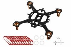 Rakonheli 90mm carbon Hauptrahmen für 7mm Motoren RKH 90RQX in orange