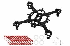 Rakonheli 90mm carbon Hauptrahmen für 7mm Motoren RKH 90RQX in schwarz