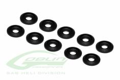 Aluminium Abschluss Unterlagsscheibe Black Mate in schwarz 10 Stück