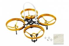 Rakonheli 7 mm Motoren Tuning Rahmen aus carbon in gelb für Blade Inductrix