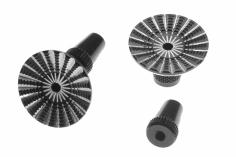 Steuerknüppelendstück mit breiter Finger-Auflage in schwarz für M3 Gewinde
