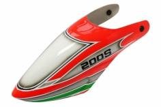 Lionheli Fiberglass Haube Design 02 rot/grün für den Blade 200S