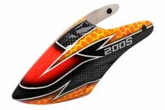 Lionheli Fiberglass Haube Design 05 schwarz/orange für den Blade 200S