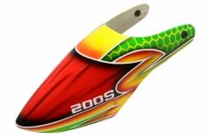 Lionheli Fiberglass Haube Design 01 grün/gelb/rot für den Blade 200S