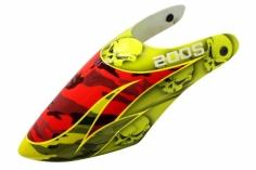 Lionheli Fiberglass Haube Hydrographics 01 gelb/rot für den Blade 200S