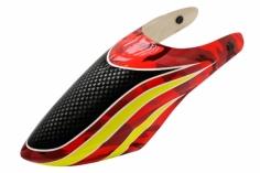 Lionheli Fiberglass Haube Hydrographics 02 rot/schwarz für den Blade 200S