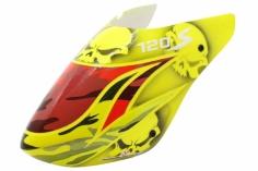 Lionheli Fiberglass Haube Hydrographics 01 gelb/rot für den Blade 120S
