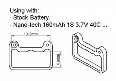 Rakonheli Akkuhalterung für Standard 1S Akkus für Blade Nano CPX/CPS