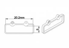 Rakonheli Akkuhalterung für MCPX 1S Akkus für Blade Nano CPX/CPS