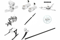 Rakonheli Tuning Set mit 2 Blatt Kopf in silber für Blade Nano CPs