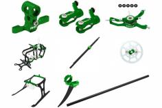 Rakonheli Tuning Set mit 2 Blatt Kopf in grün für Blade Nano CPs