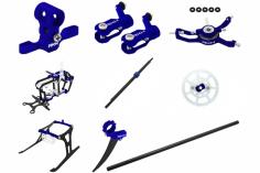 Rakonheli Tuning Set mit 2 Blatt Kopf in blau für Blade Nano CPs