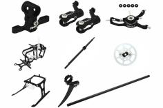 Rakonheli Tuning Set mit 2 Blatt Kopf in schwarz für Blade Nano CPs