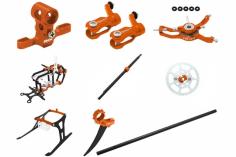 Rakonheli Tuning Set mit 2 Blatt Kopf in orange für Blade Nano CPs