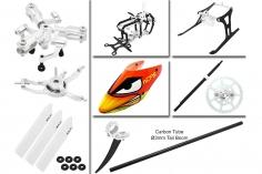 Rakonheli Tuning Set mit 3 Blatt Kopf in silber für Blade Nano CPs
