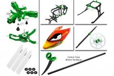Rakonheli Tuning Set mit 3 Blatt Kopf in grün für Blade Nano CPs