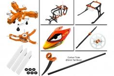 Rakonheli Tuning Set mit 3 Blatt Kopf in orange für Blade Nano CPs