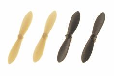 Revell Ersatzteil Propeller Set in schwarz/weiß für den Revell Control Quadrocopter Nano Quad FUN schwarz