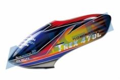 Align Kabinenhaube rot/blau für T-REX 470L