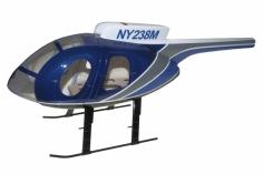 250er Scale Rumpf Hughes MD500E blau grau für Align T-REX 250