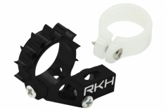Rakonheli Heckmotorhalterung Alu in schwarz für Blade 120 S