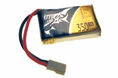 Tattu 350mAh 3.7V 30C 1S1P LiPo Akku Pack mit Molex Buchse