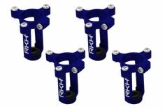 Rakonheli 8,5mm Motorhalter und Landegestell in blau für den 90RQX Tuningrahmen