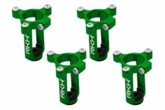Rakonheli 8,5mm Motorhalter und Landegestell in grün für den 90RQX Tuningrahmen