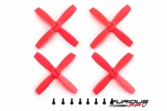 Furious FPV High Performance Propeller 2435-4 in rot 4 Stück je 2x cw und ccw