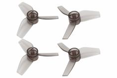 Rakonheli Propellerset 3 Blatt in transparentem schwarz 40mm für Blade Inductrix