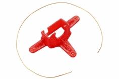 Rakonheli Kamerahalterung mit 10° Neigungswinkel in rot für Blade Inductrix FPV