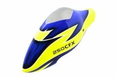 Lionheli Speed Rumpf Ersatzhaube im blau-gelb Design für den Blade 250CFX
