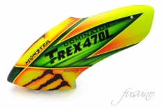 Fusuno Monster Airbrush fiberglas Haube für T-REX 470L