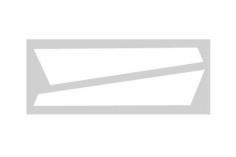 OXY Ersatzteil Aufkleber in weiß für die vertikale Finne für OXY2