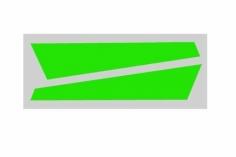 OXY Ersatzteil Aufkleber in grün für die vertikale Finne für OXY2
