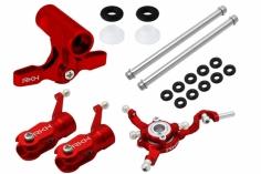Rakonheli Rotorkopf-Set in rot für Blade 130S und 180CFX