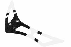 Rakonheli Leitwerk Set aus Carbon in weiß für Blade 120 S