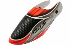 Lionheli Fiberglass Haube Standard Design 01 rot/schwarz für den Blade 130s