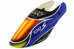 Lionheli Fiberglass Haube Standard Design 02blau/gelb/schwarz für den Blade 130s
