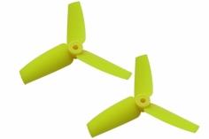 Rakonheli 3 Blatt Heckpropeller 65mm in gelb für Blade 130 S, 150 S 2 Stück