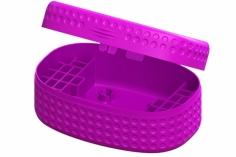 Lynx Transportbox DOT Edition für bis zu 28 Akkus in vio für Blade Inductrix FPV